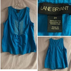 💙LANE BRYANT EMBROIDERED SLEEVELESS TANK💙